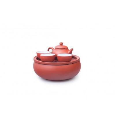Набор чайной посуды из глины
